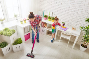 Family cleaning room